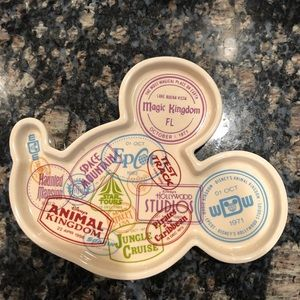 Brand new Mickey Mouse glass tray